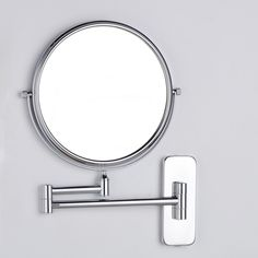 "8"" Double Mirror 1:1 and 1:3 Brass Magnifying Cosmetic Mirror Folding Bathroom Make Up Two Bath Square #Affiliate"