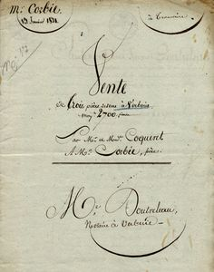 French Document Cover. 1821.