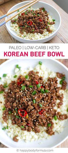 Korean Beef Bowl (Paleo, Keto, Low-Carb)