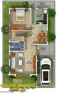 2bhk House Plan, 3d House Plans, Indian House Plans, Model House Plan, House Layout Plans, Home Map Design, Duplex House Design, Duplex House Plans, Bedroom House Plans