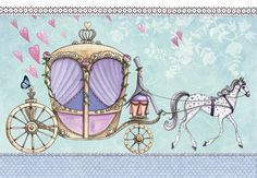 Horse-drawn carriage artist illustration by www.MilaMarquis.com and www.Facebook.com/MilaMarquisillustration