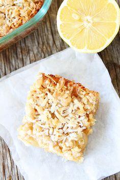 Lemon Coconut Crumb Bars Recipe