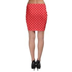 Chinese Loving Hearts Bodycon Skirt 5 Colors