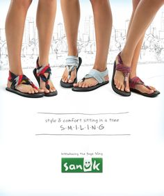 Sanuk Yoga Sling sandals; made out of real yoga mats. Perfect for a comfortable roo