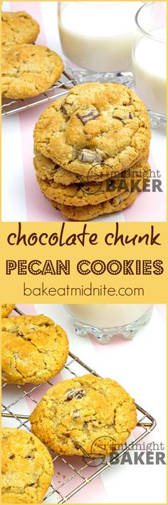 Rich and chewy and loaded with chocolate chunks and pecans! Make a huge batch--they freeze well!