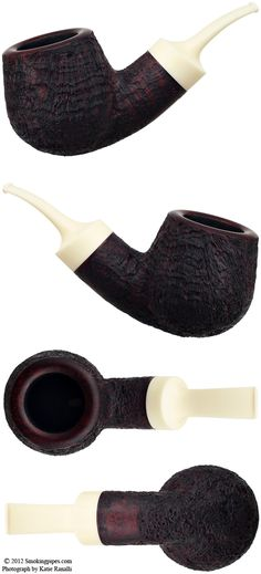 Sandblasted Bent Pot--from one of my favorite pipe makers, Ernie Markle