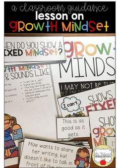 A classroom guidance lesson on growth mindset. Elementary School Counselor, School Counseling, Elementary Schools, Growth Mindset Lessons, Mindset Quotes, Apple Classroom, 2nd Grade Ela, Guidance Lessons, Character Education