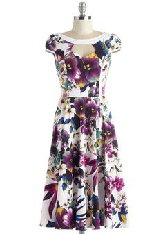 Cute Classification Dress | Mod Retro Vintage Dresses | ModCloth.com purple floral print