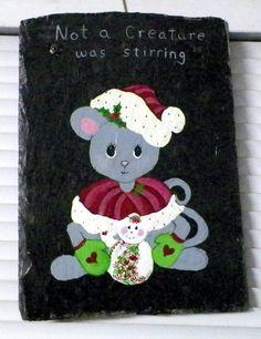 Miss Christmas Mouse Slate