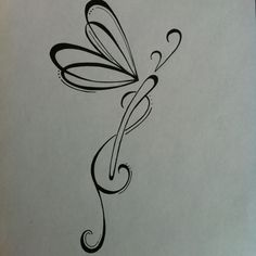 black and white dragonfly tattoo - Google Search