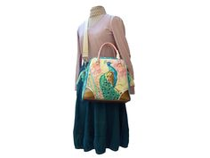 Peacock Feather - Wunsch-Traumtasche bei www.Lalilalula.com #bags #handbags #handmade #shopping