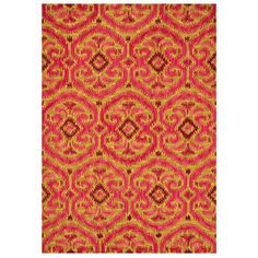 Add a pop of pattern to your foyer or den with this hand-tufted wool rug, featuring an abstract medallion motif in a berry-hued palette.     ...