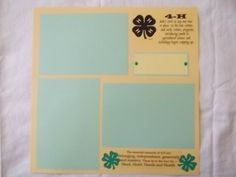 4H club project scrapbook page - premade pages ready for your photo's great gifts