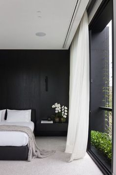 Discover sleek and sexy signature interior styles with the top 50 best black bedroom design ideas. Explore cool dark wall colors and luxury decor accents. Home Bedroom, Bedroom Interior, Marble House, Interior Design Awards, Interior, Interior Design Bedroom, Beautiful Bedrooms, Home Decor, Black Bedroom Design