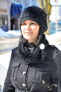 #SincerelyPam Urban Glamour slouch hat and cowl #crochetpattern This #DesignWarsChallenge entry is so much fun to dress up any outfit AND you get both patterns in 1!