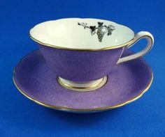 Deep Purple & Black Silhouette Design Grosvenor Tea Cup and Saucer Set Deep Purple, Purple And Black, Pink And Gold, Black Silhouette, Silhouette Design, Cup And Saucer Set, Tea Cup Saucer, Purple Tea Cups, Royal Tea