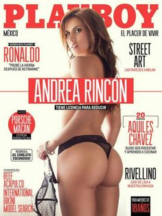 Playboy (Mexico) July 2014 with Andrea Rincón on the cover of the magazine
