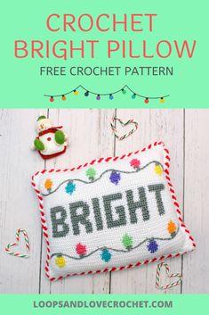 Crochet Bright Pillow - Free Crochet Pattern Loops & Love Crochet