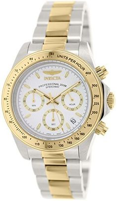 Men's Wrist Watches - Invicta Mens 7029 Signature Collection Speedway TwoTone Chronograph Watch >>> Visit the image link more details.