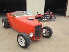 The hot rod and bike