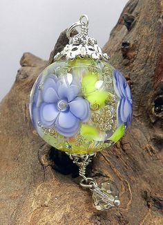 Hand+Crafted+Lamp+Worked+Glass+Pendant+by+Glassactcc+on+Etsy,+$55.00