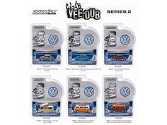 Greenlight Vee Dub Series 2, 6pc Diecast Car Set 1/64 Diecast Model Cars by Greenlight