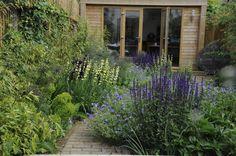 London town garden - Contemporary - Landscape - London - by Arthur Road Landscapes Small Backyard Gardens, Small Backyard Design, Small Gardens, Diy Garden, Garden Cottage, Garden Paths, Garden Ideas, Dream Garden, Brick Path