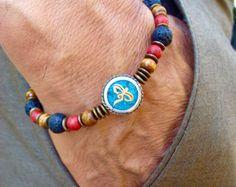 Sanación espiritual y fortuna pulsera tibetana con por tocijewelry