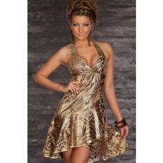 LEOPARD PRINT HALTER SEXY PARTY DRESS PRICE  $41.99  #dress #fashion #women