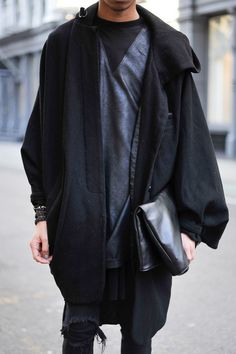 this really is my style of dressing, layers and loose slouchy textures.  With a dark jean.