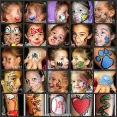 ...Simple Face Paint Board...