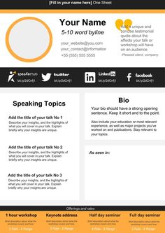 Speaker one sheet template instant download ms word office 365 one sheet creator business writingspeakersparentingtemplatemusic cheaphphosting Images
