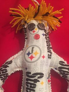A personal favorite from my Etsy shop https://www.etsy.com/listing/245396844/pittsburg-steelers-dammit-doll