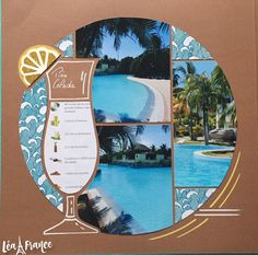 Stencil - Retiring What a fun pool day! Scrapbooking layout with multiple pictures using the Lea France Cruise Stencil.What a fun pool day! Scrapbooking layout with multiple pictures using the Lea France Cruise Stencil. Cruise Scrapbook Pages, Beach Scrapbook Layouts, Scrapbook Examples, Paper Bag Scrapbook, Vacation Scrapbook, Photo Album Scrapbooking, Scrapbook Sketches, Scrapbook Albums, Scrapbooking Layouts