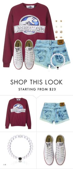 """""""Can it please just be Friday:)"""" by flroasburn ❤ liked on Polyvore featuring Topshop, Converse and Forever 21"""