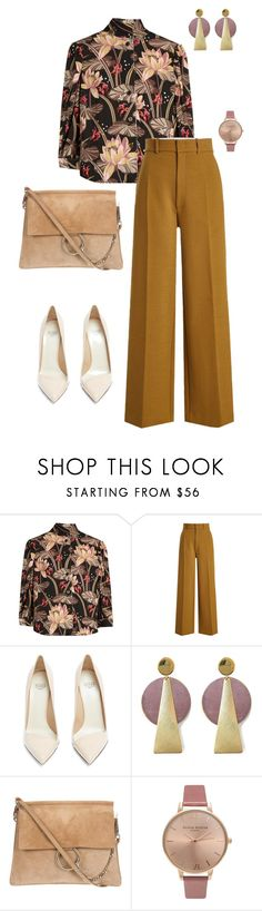 """""""Groovy baby"""" by joyce-lynn-williams ❤ liked on Polyvore featuring Loewe, Joseph, Francesco Russo, History + Industry, Olivia Burton, 70s, zara and gucci"""