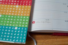 Planner Stickers for knitters by Strickmich!