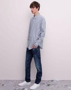 Pull&Bear - man - jeans - regular fit jeans - blue - 09685515-V2015