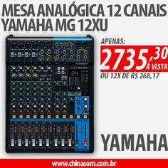 EBAAA, PROMOÇÃO ;) Mesa Analógica 12 Canais Yamaha MG 12XU Compre Aqui:  #yamaha #dj #sound #chinasom #mesadesom