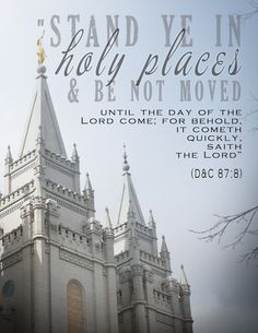 Stand Ye in Holy Places - 2013 Mutual Theme Poster - New Beginnings Theme