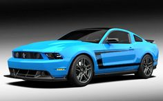 2012 Boss 302 in Grabber Blue