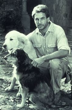 Mark Harmon...with his dogs years ago
