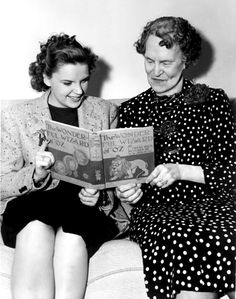 Judy Garland with Maud Gage Baum, wife of Wizard of Oz author L. Frank Baum.