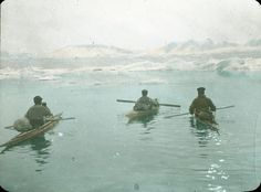 The Swiss Greenland Expedition 1912 - Alfred de Quervain in the middle.