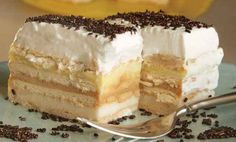 Pudding butter biscuit cake without baking - Kuchen - Best Tart Recipes Tart Recipes, Sweet Recipes, Cooking Recipes, Croatian Recipes, Hungarian Recipes, Shortbread Cake, Posne Torte, Chocolate, Beaux Desserts