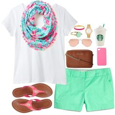 Colorful day outfit when the sun is shinning bright, and it's warm outside.....