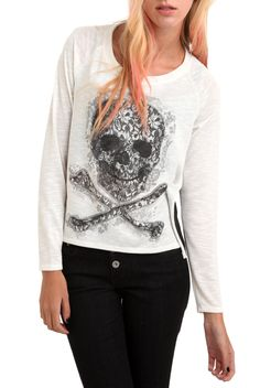 Skull Chiffon Lace Pullover | Hot Topic
