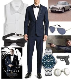 SKYFALL 007-Daniel Craig-Love a slim fitting midnight blue tuxedo suit.