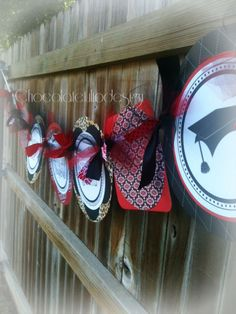 Graduation Banner Red & Black Cheetah Handmade CUSTOM to your Occasion by Chocolatetulipdesign. $42.50, via Etsy.