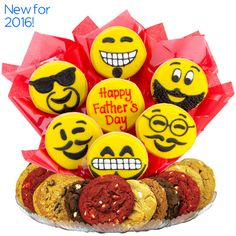 Tell Dad Happy Father's Day with Emoji Cookies from Cookies by Design.